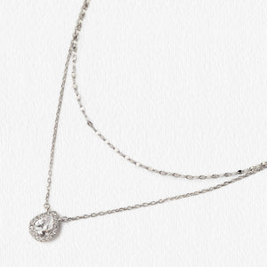 Margaux Teardrop Layered Necklace MM