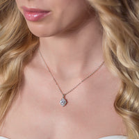 Cleo Crystal Pendant Necklace - Amy O. Bridal