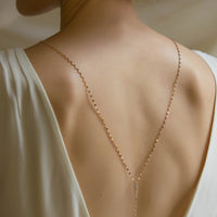 Mika Lariat Back Necklace