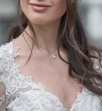Sophia Back Pendant Necklace - Amy O. Bridal