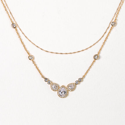 Margaux Trio Back Pendant Necklace
