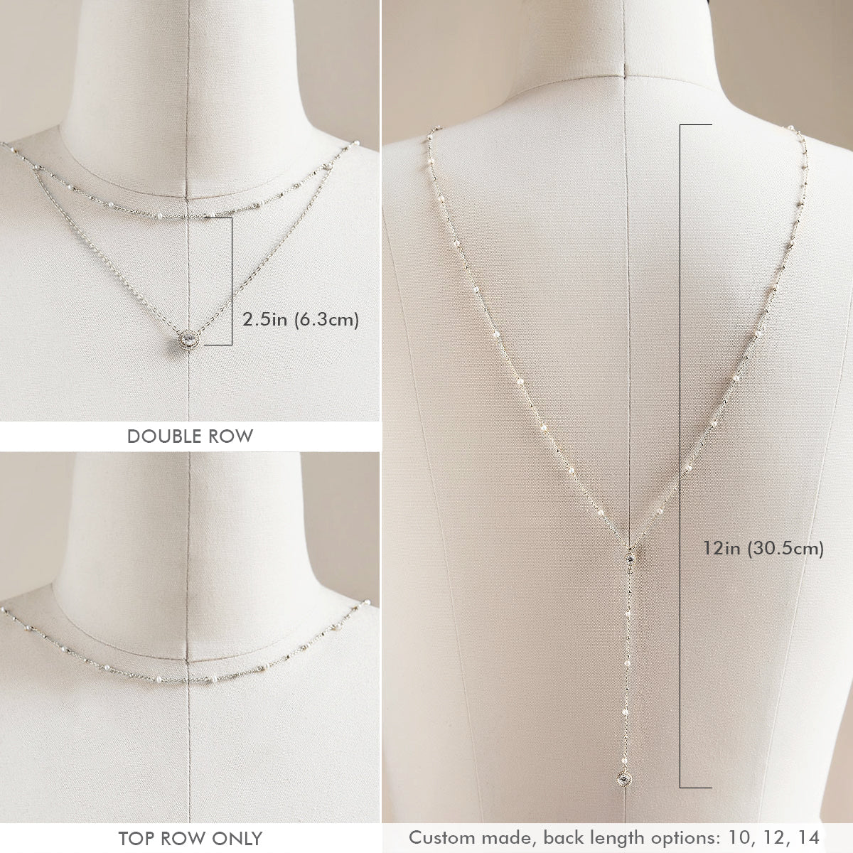 Pearl Y Lariat Back Necklace