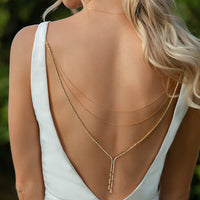 Marcia Y Lariat Statement Back Necklace