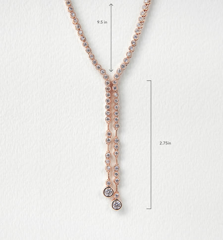 Marcia Back Necklace in Rose Gold