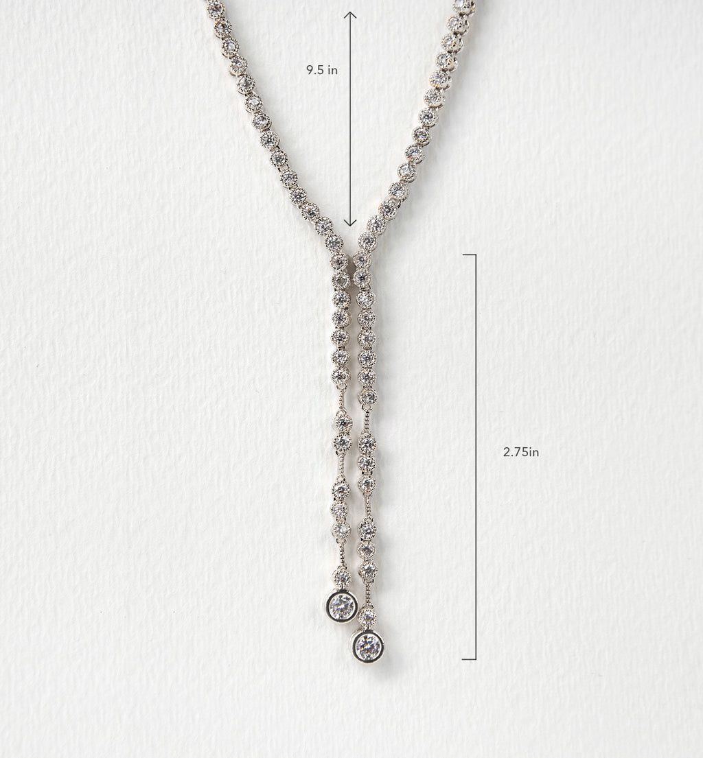 Marcia Back Necklace in Silver
