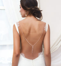 Marcia Back Necklace - Amy O. Bridal