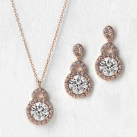 Sophia Crystal Jewelry Set - Amy O. Bridal