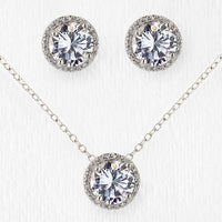 Sophia Round Jewelry Set - Amy O. Bridal