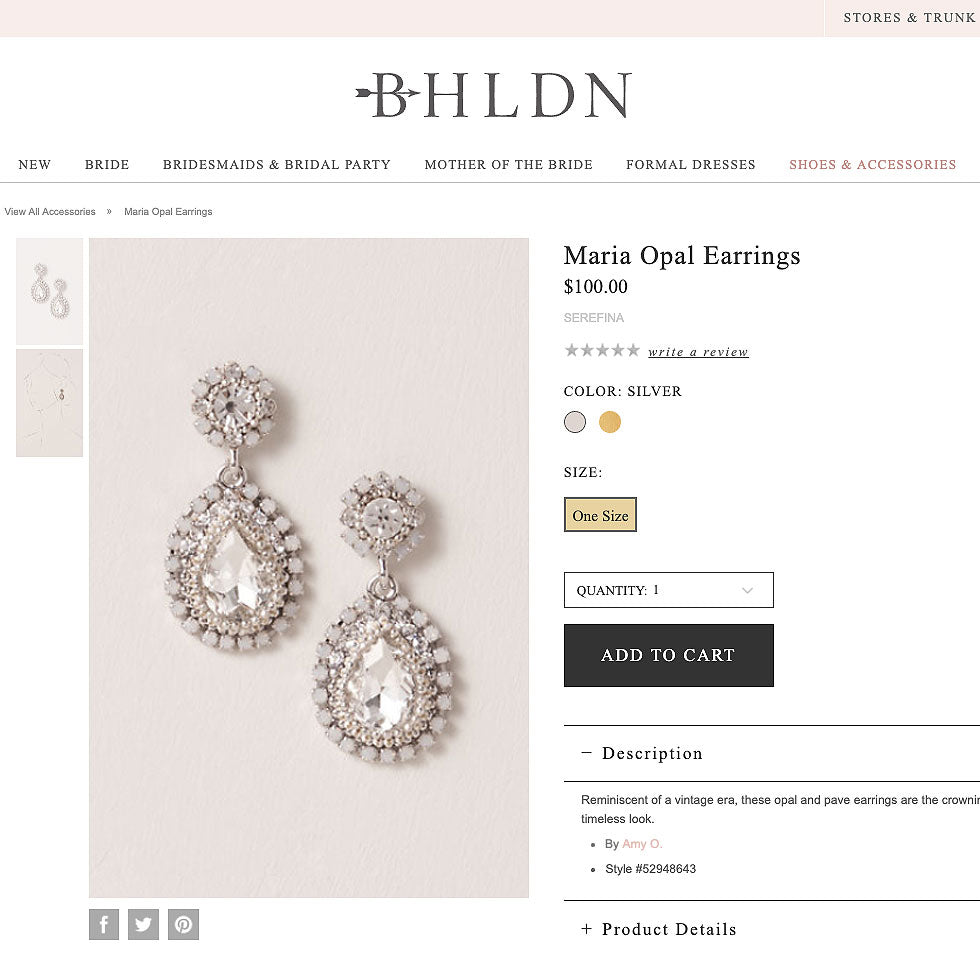 caption: Featured on BHLDN