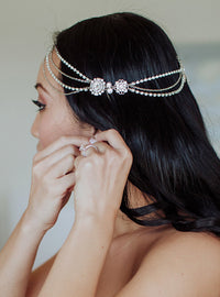 Cleo Crystal Tiered Headpiece