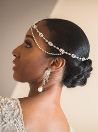 Cleo Silver Swarovski Tiered Headpiece