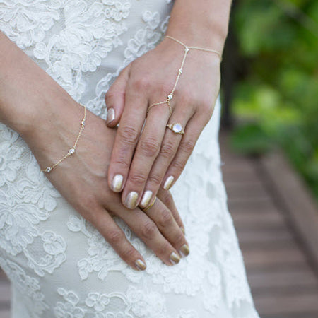 Dakota Crystal Handchain - Amy O. Bridal