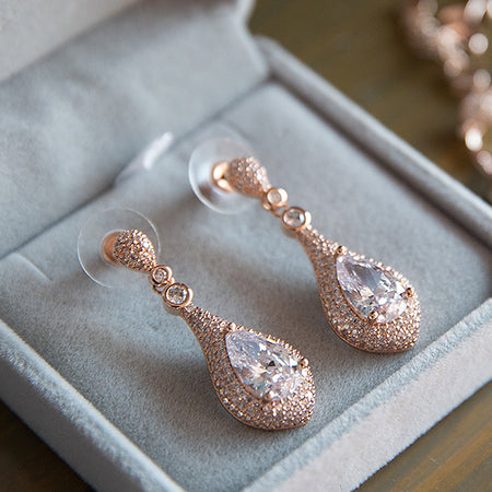 Sarina CZ Drop Earrings