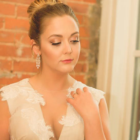 Fleur Chandelier Earrings - Amy O. Bridal