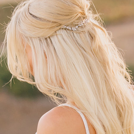 Boho Crystal Leaf Hair Comb