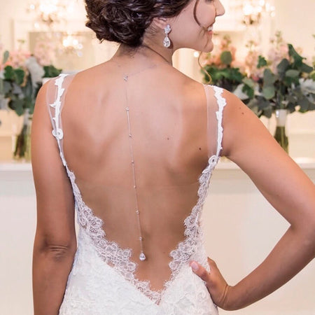 Margaux Petite Back Pendant Necklace - Amy O. Bridal