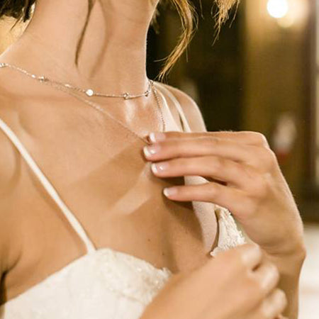 Dakota Crystal Layered Necklace - Amy O. Bridal