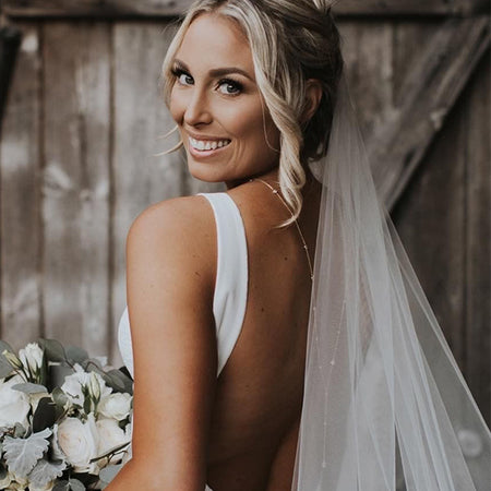 Dakota Y Lariat Backdrop Necklace - Amy O. Bridal