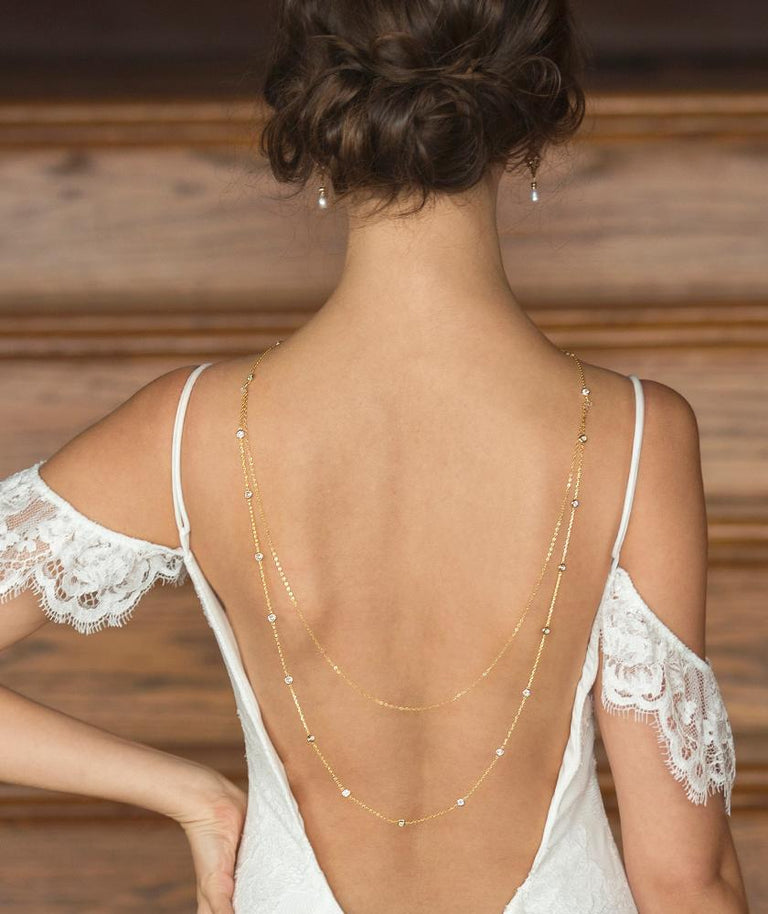 Back Wedding Necklaces