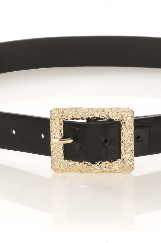 Stylish Agenda Alligator Buckle Belt - Black - Madison + Mallory