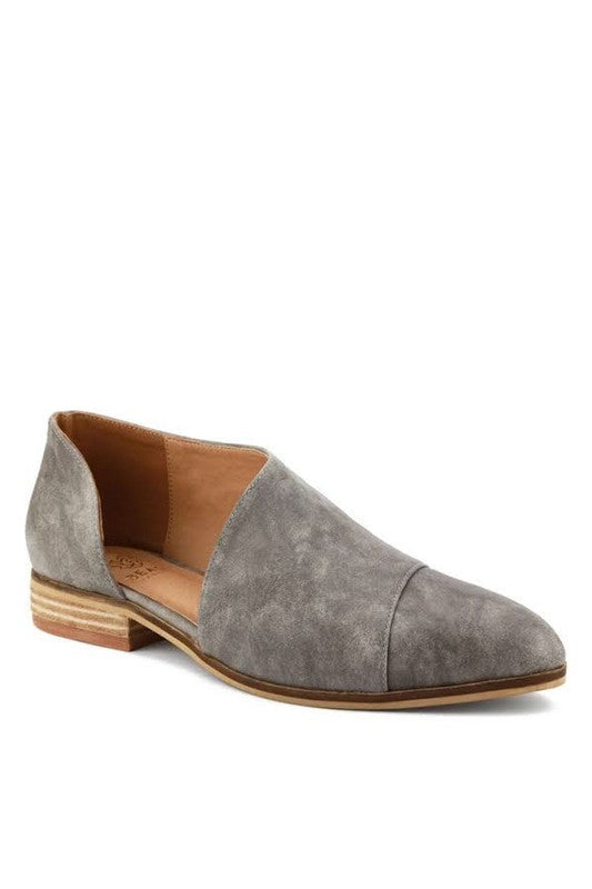5.5 / Gray Carter Cutout Tuxedo Booties - Madison + Mallory
