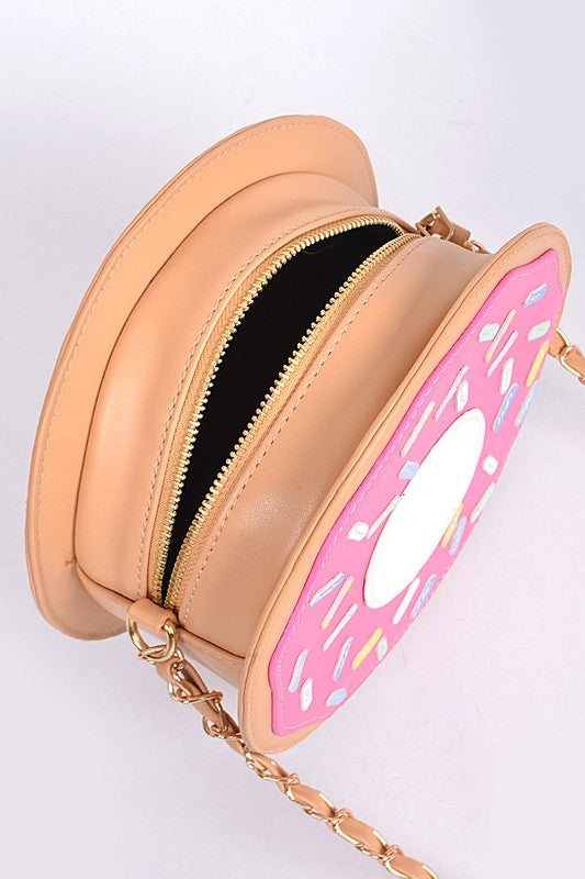 Frosted Donut Crossbody Bag - Madison and Mallory
