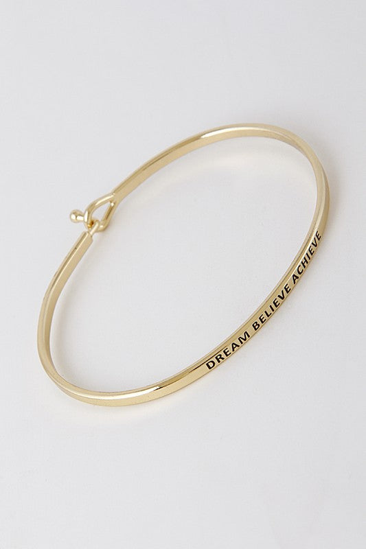 Dream Belive Achieve Bangle Bracelet - Madison + Mallory