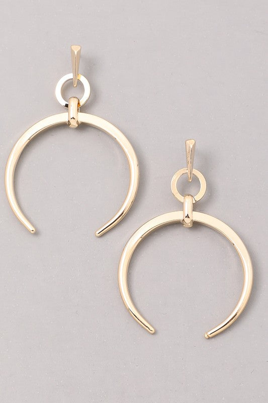 Gold Moonshadow Earrings - Madison + Mallory