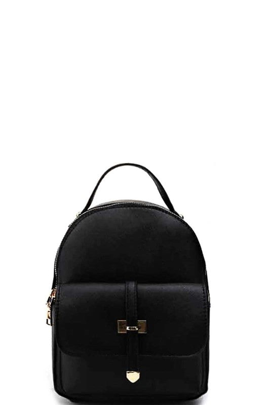 Brea Faux Leather Backpack - Black - Madison + Mallory