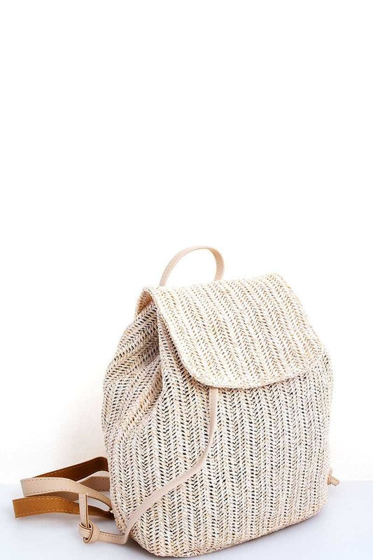 Port Costa Woven Straw Backpack - FINAL SALE - Madison and Mallory