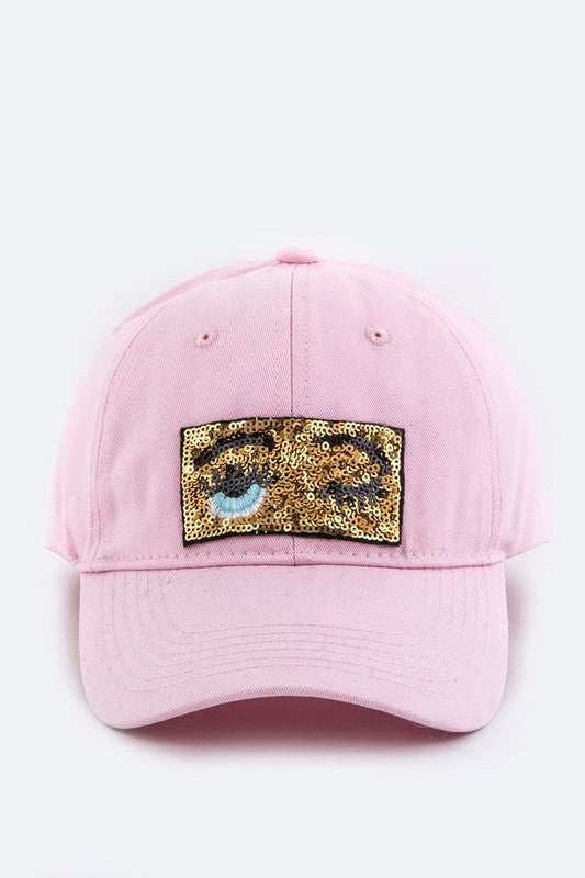 Sequin Wink Patch Hat - Madison and Mallory