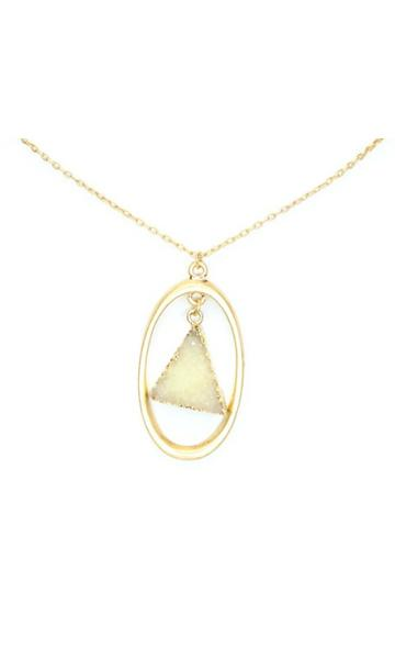 Druzy Pendant Necklace + MORE COLORS - Madison + Mallory