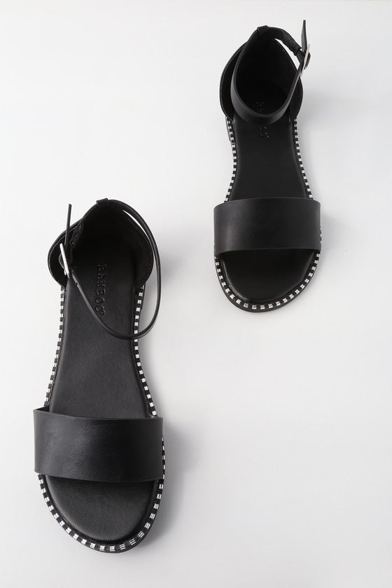 Dallas Studded Ankle Strap Sandals - Madison + Mallory