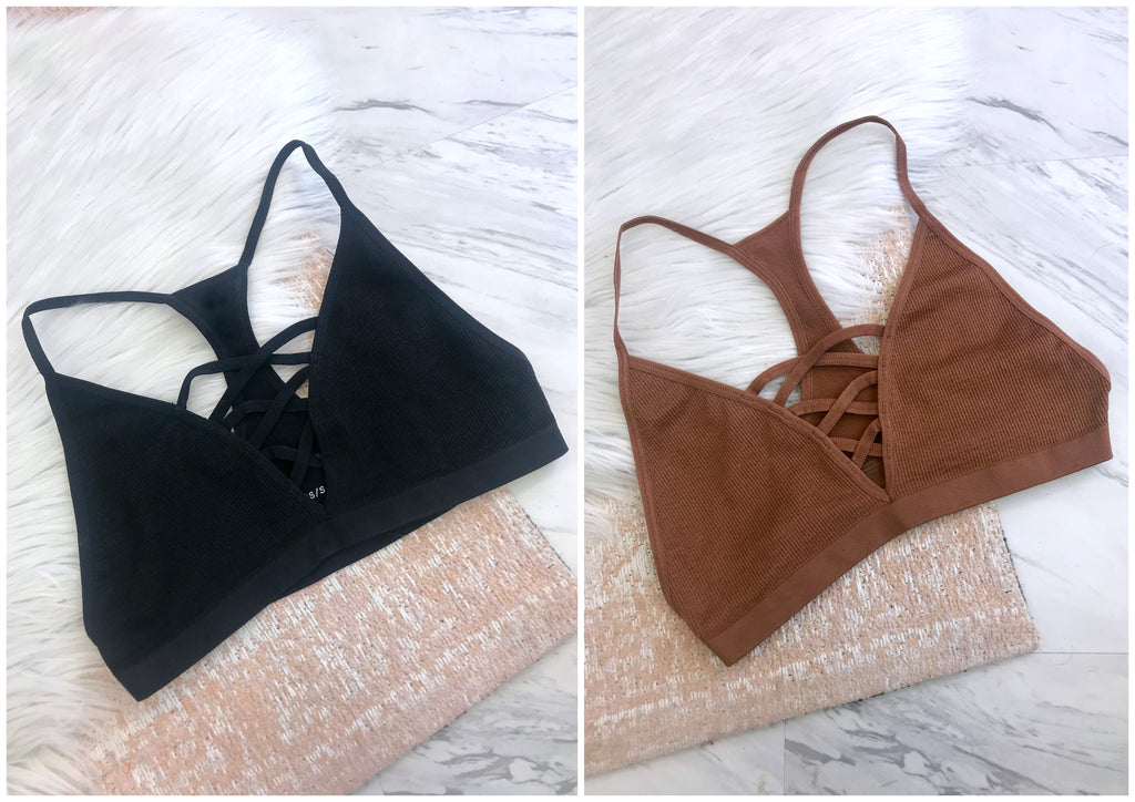 Seamless Cross Detail Bralette - Madison + Mallory