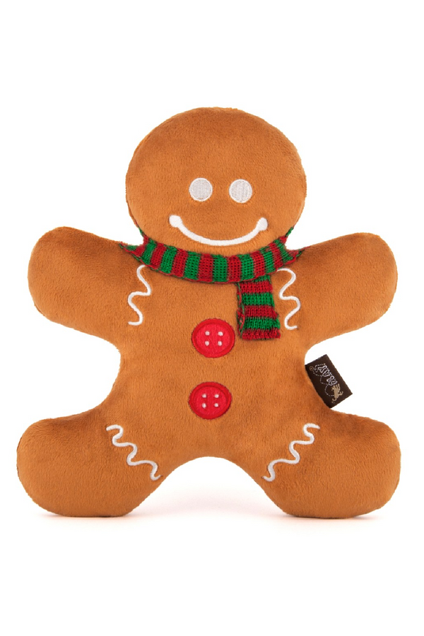 Gingerbread Gingerbread Man Dog Toy - Madison and Mallory