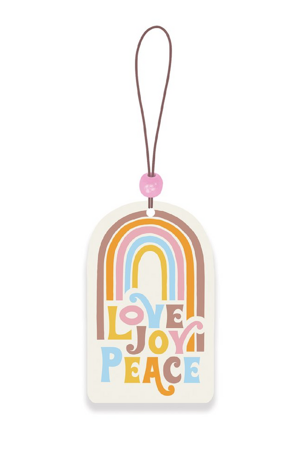Rainbow Love Joy Peace Rainbow Car Air Freshener - Madison and Mallory