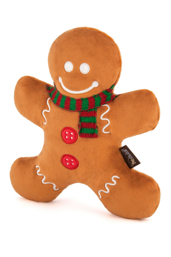 Gingerbread Man Dog Toy - Madison and Mallory