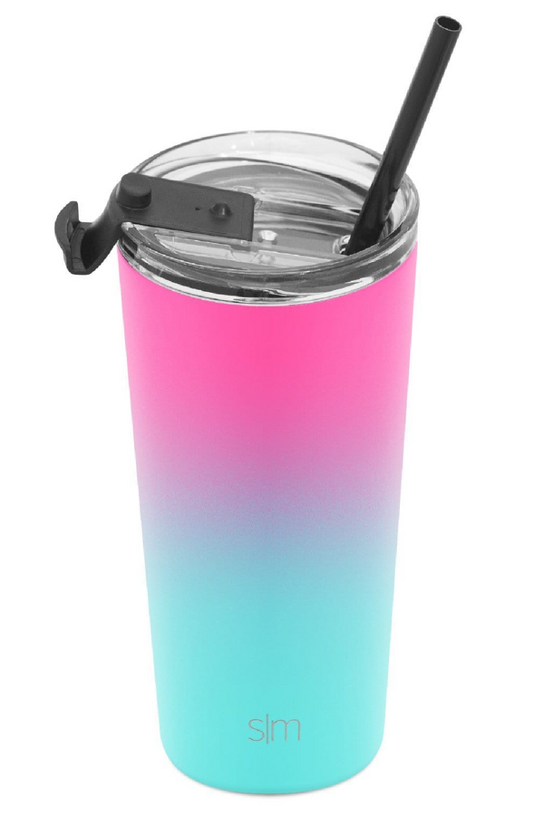 20oz. / Sorbet Simple Modern Classic Tumbler with Clear Flip Lid & Straw - 20oz. - Madison and Mallory
