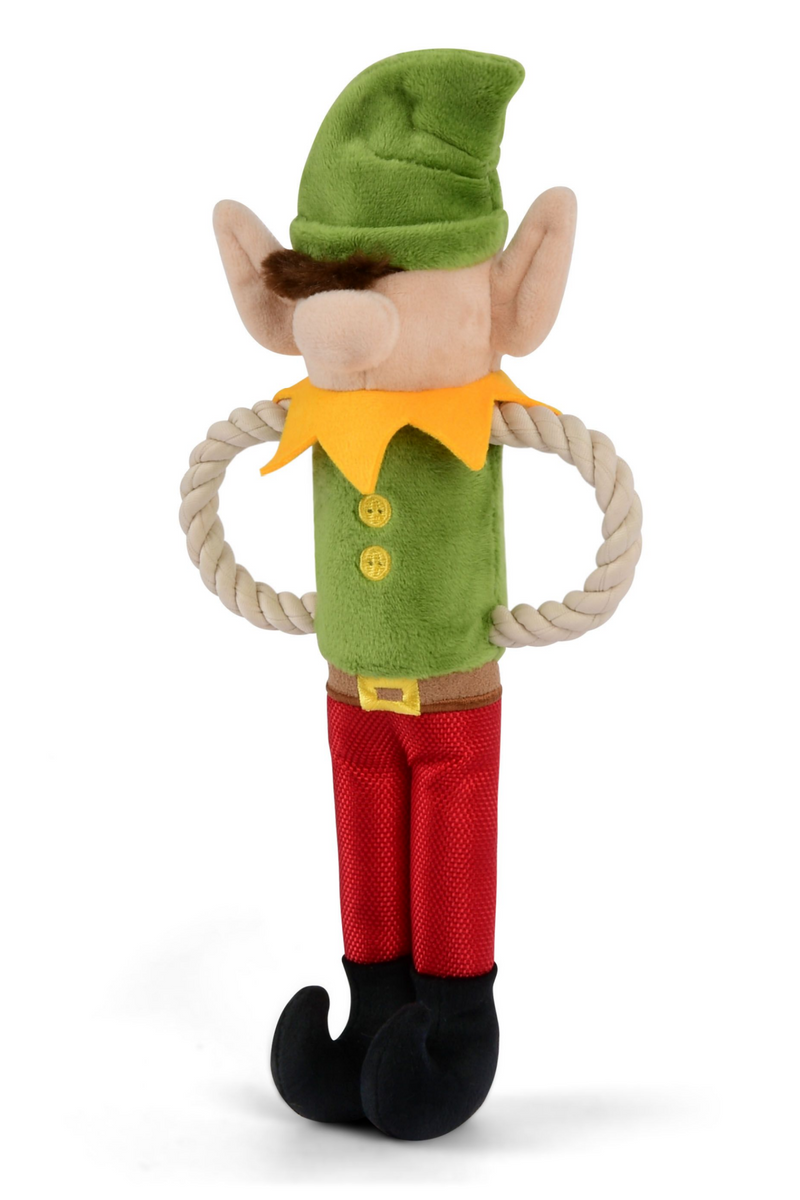 Elf Santa's Little Elf-Er Dog Toy - Madison and Mallory