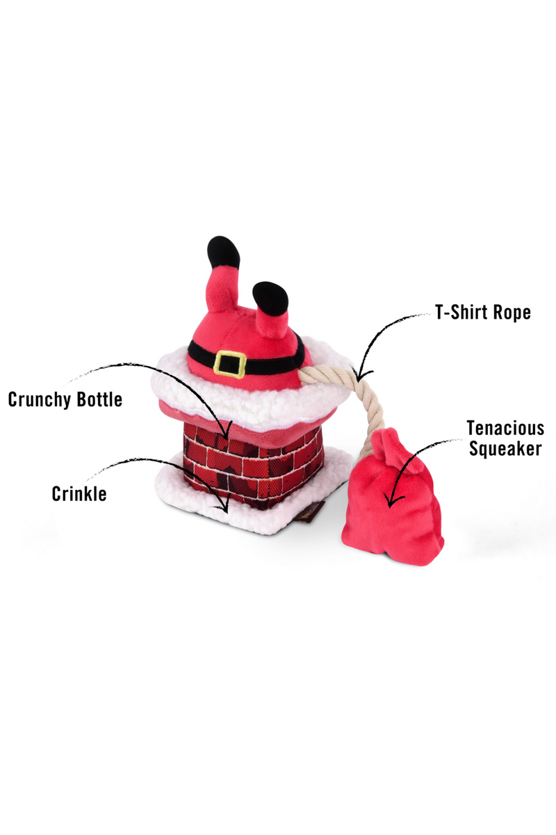 Clumsy Claus Dog Toy - Madison and Mallory
