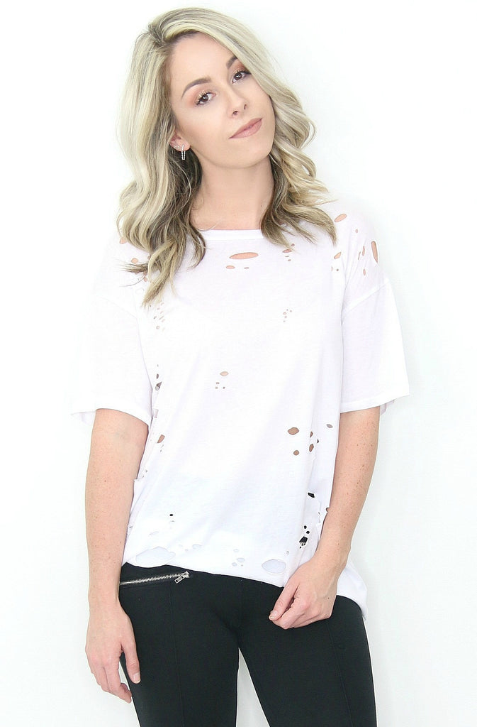 Distressed Boyfriend Tee