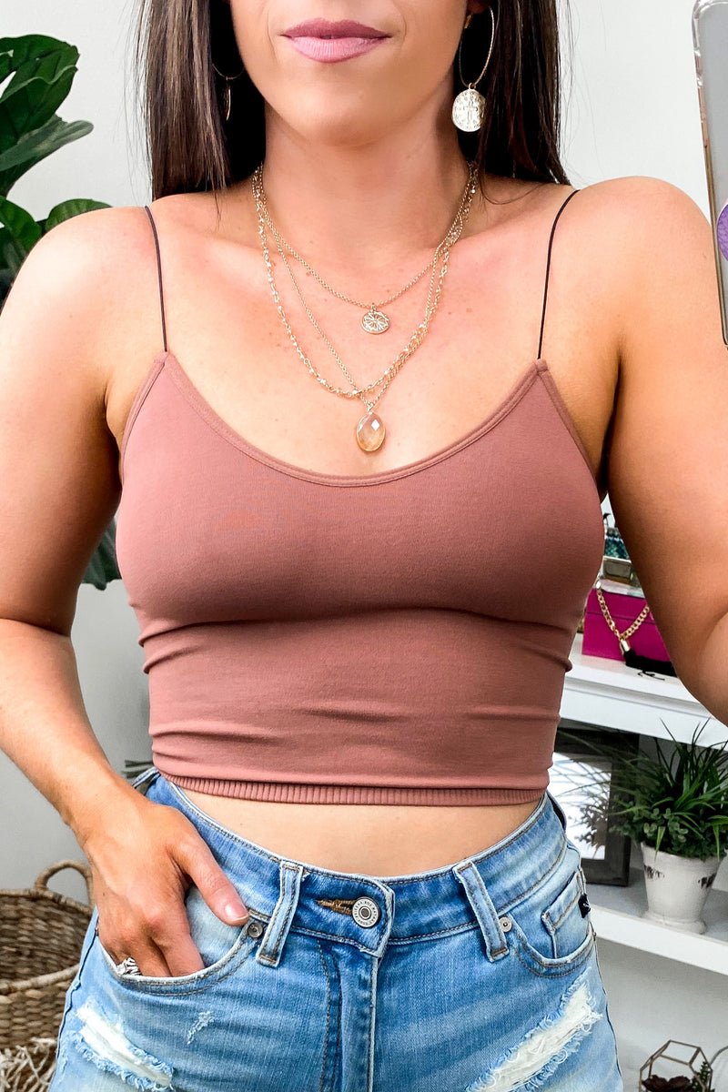 Cocoa / SM Sarai Seamless Bra Top + NEW COLORS - Madison and Mallory