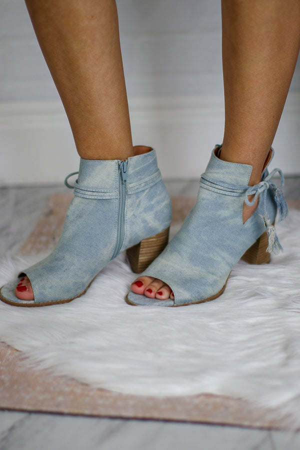 Alana Peep Toed Bootie - FINAL SALE - Madison + Mallory