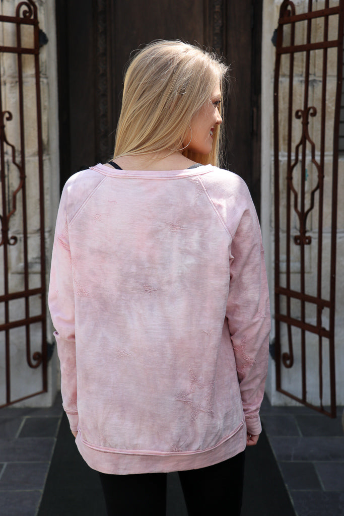 Tie Dye Zipper Detail Sweatshirt - Madison + Mallory
