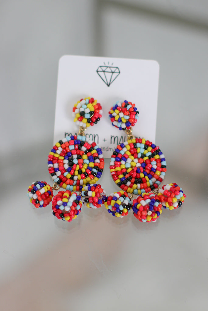 OS / Multi Sweet Thing Dangle Earrings - Madison + Mallory