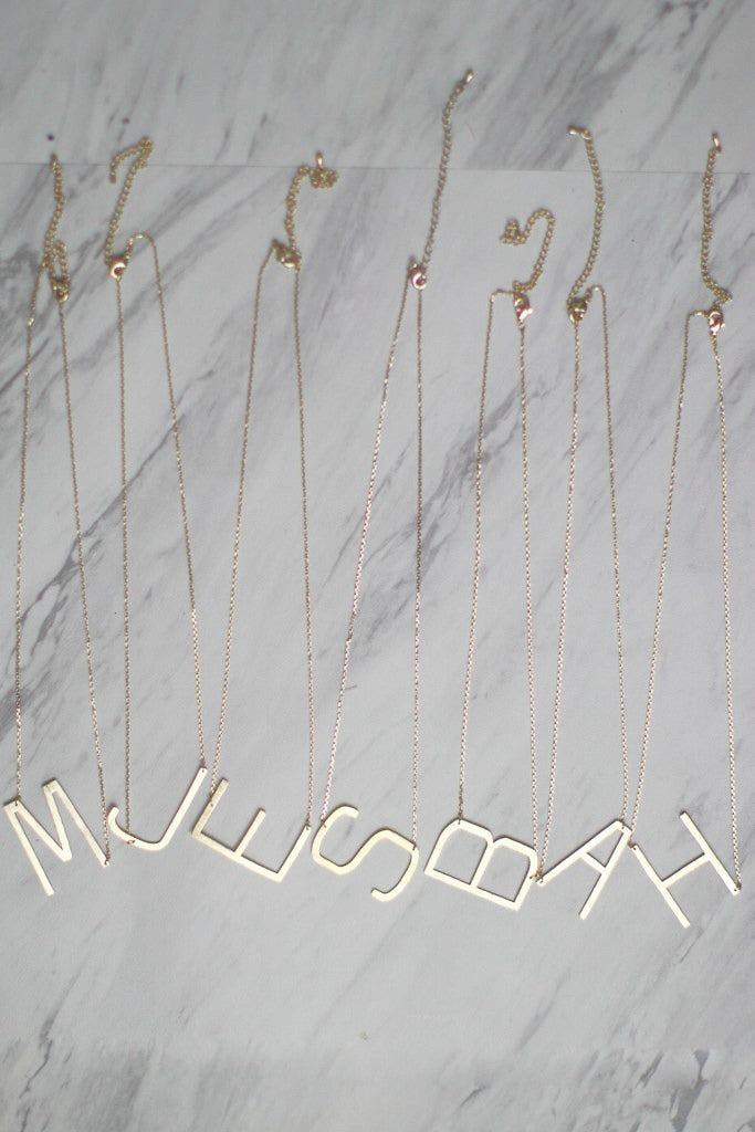 Monogram Initial Necklace - Madison + Mallory