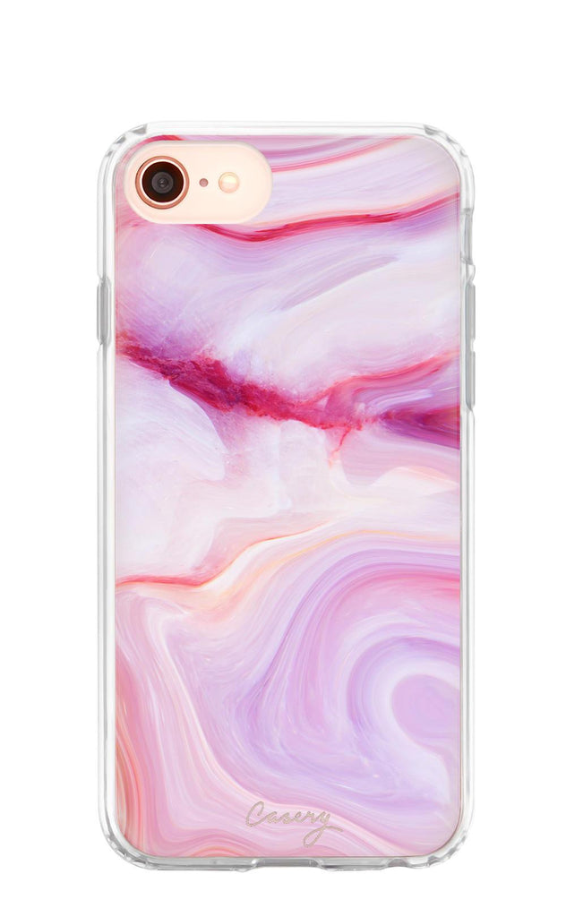 6/6s/7/8 / Raspberry Marble Raspberry Marble iPhone Case - Madison + Mallory