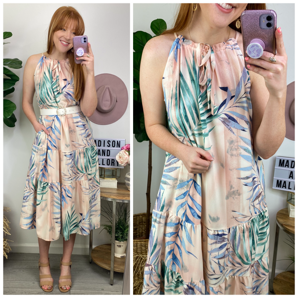 All Day Vacay Tropical Print Dress - Madison and Mallory