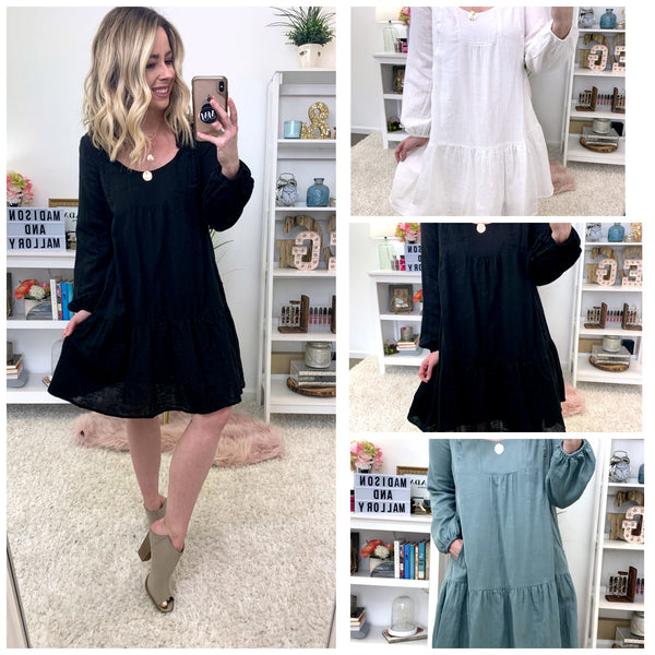 Allison Tiered Peasant Dress - FINAL SALE - Madison + Mallory