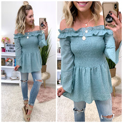1c8b5d94526 Avalon Off Shoulder Bell Sleeve Top - Madison + Mallory